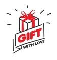 logo for gifts vector image