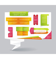 Modern set of business infographic elements vector image