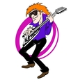 Music man with guitar vector image