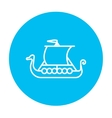 Old ship line icon vector image vector image