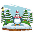 penguin at forest vector image