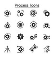 process icon set graphic design vector image