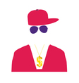 rap singer in pink vector image