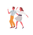 retro couple dance lindy hop together vector image vector image