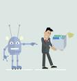 robot vs man clipart vector image