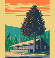 roosevelt lodge cabins located vector image