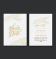 save date card template vector image