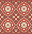 seamless doodle pattern ethnic motives zentagl vector image vector image