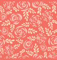 seamless pattern scandinavian roses red vector image vector image
