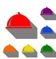 server sign set of red orange vector image vector image