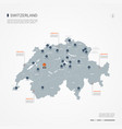 switzerland infographic map vector image
