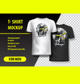 t-shirt template fully editable with motorbike vector image vector image