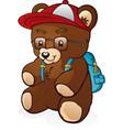 teddy bear cartoon back to school vector image vector image