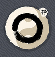 Traditional Zen circle enso vector image vector image