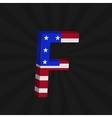 USA flag alphabet vector image vector image