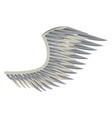 wing angel isolated vector image vector image