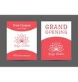 Yoga Studio Brochure Template vector image vector image