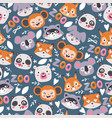 zoo animals seamless pattern vector image vector image