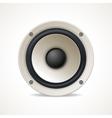 Vintage White Audio Speaker vector image