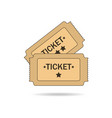 tickets on white background vector image