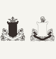 Two Heraldry Knight Crests vector image