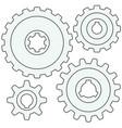 gear wheel set vector image