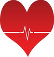 Heart line 02 resize vector image