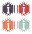 Information sign icon set vector image