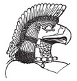 assyrian eagle-head is natural pattern in this vector image vector image