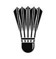 badminton shuttlecock icon simple style vector image vector image