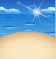 Beautiful summer postcard with beach vector image
