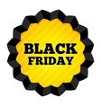 Black Friday Sale label on white background vector image vector image