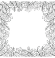 border of leaves vector image vector image