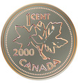 canadian one cent coin vector image vector image