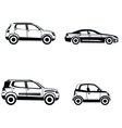 Car type in simple style on white background vector image vector image