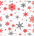 christmas seamless pattern snowflakes vector image vector image