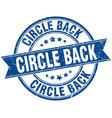 circle back round grunge ribbon stamp vector image vector image