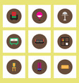 collection of stylish icons in colorful vector image vector image