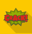 comic boom crack icon flat style vector image vector image