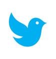 cute blue bird logo icon vector image vector image