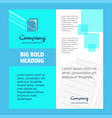 document company brochure title page design vector image vector image