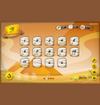 egyptian pyramid gui design for tablet vector image vector image