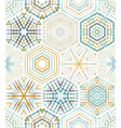 Embroidery seamless hexagons pattern vector image vector image