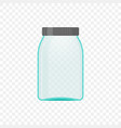 empty transparent jar for medical solution or vector image vector image