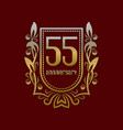 fifty fifth anniversary vintage logo symbol vector image