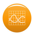 finance chart icon orange vector image vector image