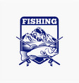 fishing logo badge 7 vector image vector image