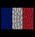 french flag mosaic of beer glass icons vector image