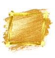 gold grunge frame vector image vector image