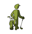golf player pictogram vector image vector image